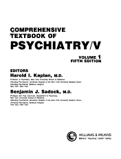 Comprehensive Textbook of Psychiatry V PDF