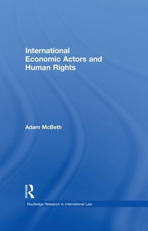 International Economic Actors and Human Rights PDF