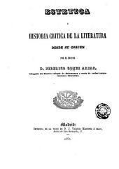 Estética é historia critica de la literatura desde su origen