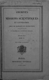 Premier rapport sur une mission scientifique à l'île Santorin