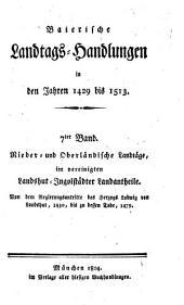Baierische Landtags-Handlungen in den Jahren 1429 bis 1513: Band 7