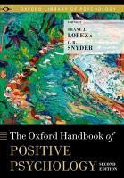 The Oxford Handbook of Positive Psychology PDF