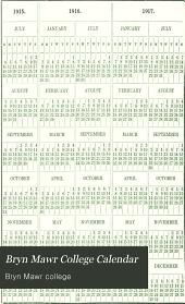 Calendar: Volume 8, Part 3; Volume 9, Part 3; Volume 10, Part 3; Volume 11, Part 3; Volume 12, Part 3; Volume 13, Part 3; Volume 14, Part 3; Volume 15, Part 3; Volume 16, Part 3; Volume 17, Part 3; Volume 19, Part 3; Volume 20, Part 3
