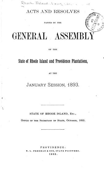 At the General Assembly of the State of Rhode Island and Providence Plantations  Begun and Holden      at     Within and for the Said State  on      in the Year of Our Lord     PDF