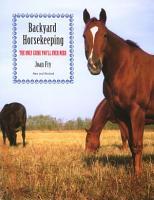 Backyard Horsekeeping PDF