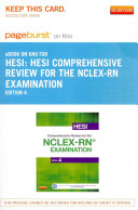 Hesi Comprehensive Review for the NCLEX RN Examination   Pageburst E Book on Kno  Retail Access Card