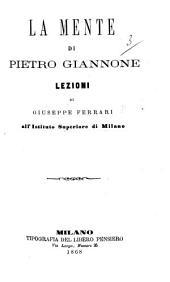 La Mente di P. Giannone, lezioni, etc