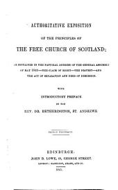 Authoritative Exposition of the Principles of the Free Church of Scotland