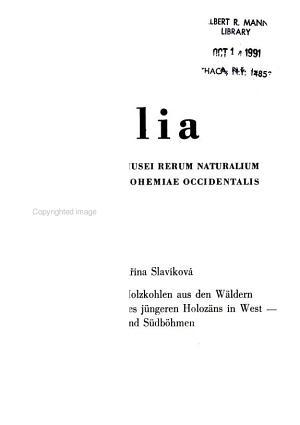 Folia Musei Rerum Naturalium Bohemiae Occidentalis PDF