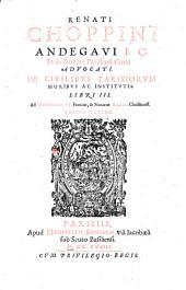 De Civilibus Parisiorum Moribus Ac Institutis Libri III