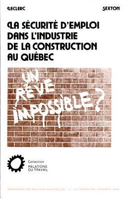 La s  curit   d emploi dans l industrie de la construction au Qu  bec PDF