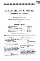 Les camarades du ministre comédie en un acte et en vers par m. Émile Vander-Burch