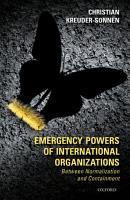 Emergency Powers of International Organizations PDF