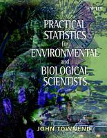 Practical Statistics for Environmental and Biological Scientists PDF
