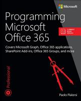 Programming Microsoft Office 365  includes Current Book Service  PDF