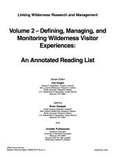 Defining  Managing  and Monitoring Wilderness Visitor Experiences PDF