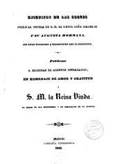 Discusion de las Cortes sobre la Tutela de S. M. la Reina dona Isabela II y su Augusta Hermana: con otros discursos y documentos que la esclarecen