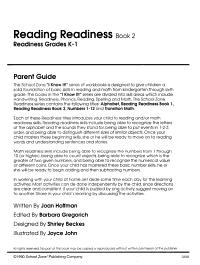 Reading Readiness K 1 Book 2