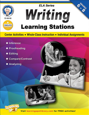 Writing Learning Stations  Grades 6   8