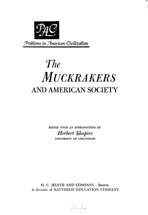 The Muckrakers and American Society PDF