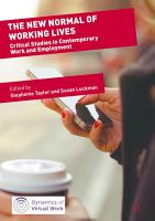 The New Normal of Working Lives PDF