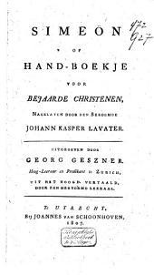 Simeön, of Handboekje voor bejaarde christenen