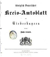 K  niglich Bayerisches Kreis Amtsblatt von Niederbayern PDF