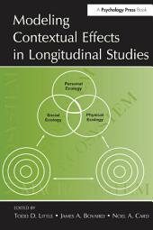 Modeling Contextual Effects in Longitudinal Studies