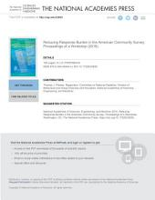 Reducing Response Burden in the American Community Survey: Proceedings of a Workshop