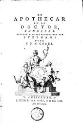 De apothecar en de doctor: zangspel