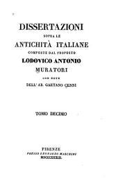 Dissertazioni sopra le antichità italiane: Volume 10