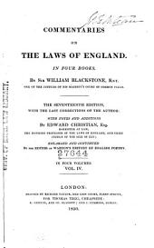 Commentaries on the Laws of England: On Four Books, Volume 4