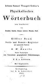 Physikalisches Wörterbuch: Sach- und Namen-Register, Band 11