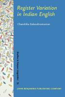Register Variation in Indian English PDF