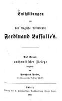 Enth  llungen   ber das tragische Lebensende Ferdinand Lassalle s PDF