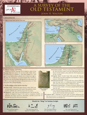 A Survey of the Old Testament Laminated Sheet