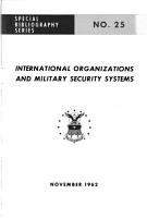 International Organizations and Military Security Systems PDF