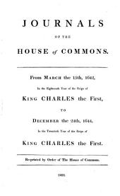 Journals of the House of Commons: Volume 3