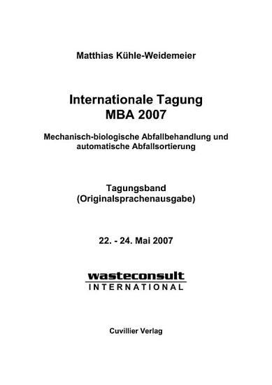 Internationale Tagung MBA 2007 PDF