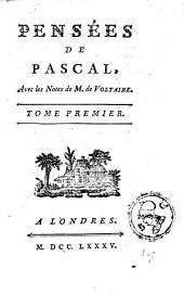 Pensées de Pascal: Volume1