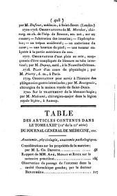 Journal général de médecine, de chirurgie et de pharmacie franc̜aises et étrangeres, ou, Recueil périodique de la Société de médecine de Paris: Volume63