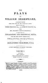 The Plays of William Shakspeare: Volume 1