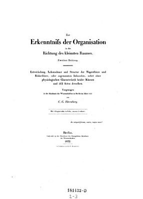 Organisation  Systematik und geographisches Verh  ltniss der Infusionsthierchen PDF
