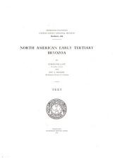 North American Early Tertiary Bryozoa: Volume 1