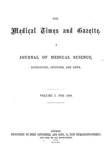 Download The Medical Times and Gazette Book