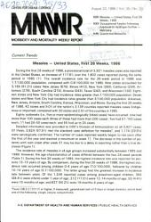 Morbidity and Mortality Weekly Report: MMWR, Volume 35, Issue 33