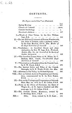Journal of the Royal Institution of Cornwall PDF