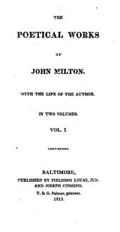 The Poetical Works of John Milton: With the Life of the Author, Volume 1