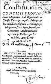 Constitutiones Concilii provincialis Moguntini