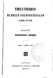 Thucydidis De bello Peloponnesiaco, libri octo: Volume 1